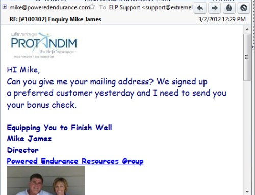 He actually signs people up using our high quality business opportunity seeker leads.