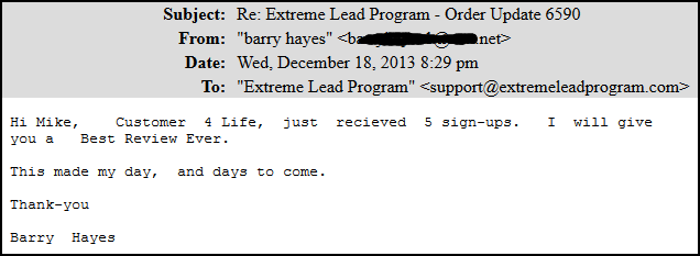 Customer for life - received 5 signups