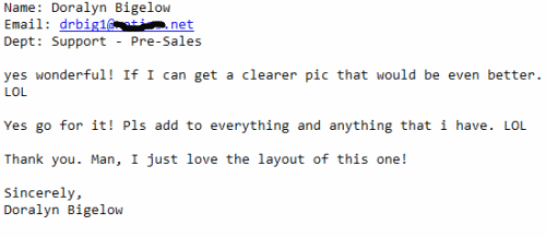 Testimonial Of a Happy Home Based Business Lead Customer