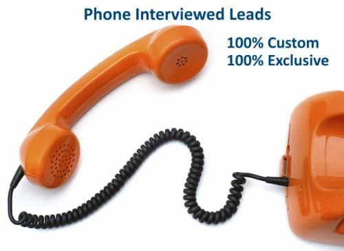 Custom Exclusive Phone Interviewed Leads
