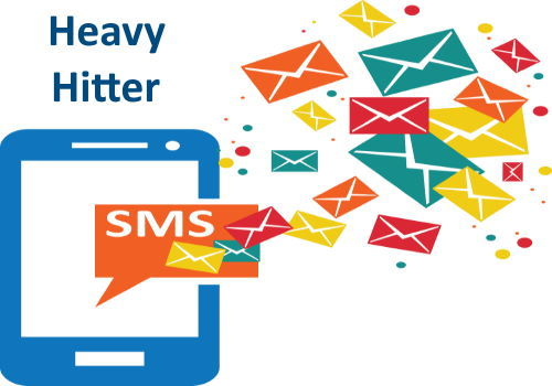 Heavy Hitter SMS Text Marketing Ad Monthly