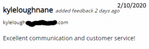 Excellent Communication and customer service