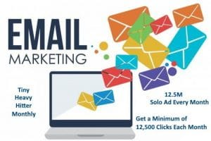 Tiny Heavy Hitter Solo Email Ad Campaign Monthly