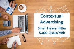 Small Heavy Hitter Contextual Advertising 5,000 Clicks Monthly