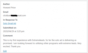 Extreme Leads Review Solo Ad Is Delivering As Promised
