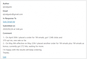 Extreme Lead Program - Solo Email Ad - One Sale So Far