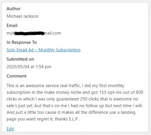 ELP Review - Solo Ad Monthly - Awesome Service - Real Traffic
