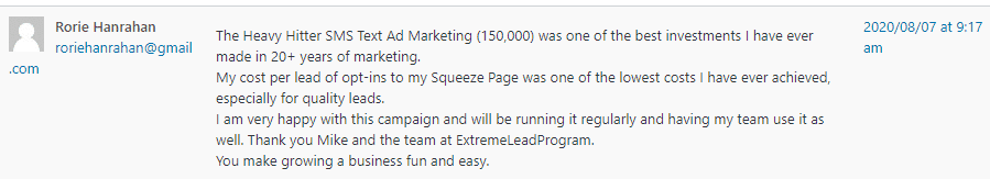 Extreme Lead Program - Heavy Hitter SMS Text Ad Marketing - Best Investment Ever Made - Low Cost Quality Leads