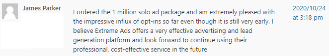 Extreme Lead Program - 1 Million Solo Email Ad Package Review - Impressive Influx of opt-ins