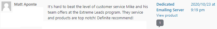 Extreme Lead Program - Dedicated SMTP Email Server Review - Definitely Recommend