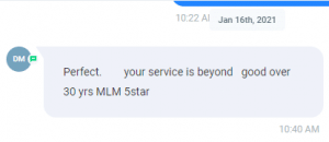Extreme Lead Program Review - Your Service is Beyond good - Over 30 years in MLM - 5 Stars