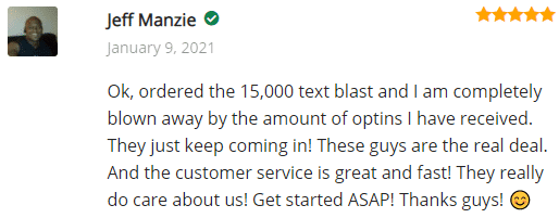 Extreme Lead Program SMS Text Ad Review - Blown Away By The Amount of Optins I have Received