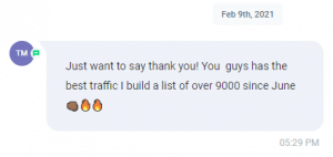 Extreme Lead Program Review - Thank You - Best Traffic - I built a list of over 9000 since June