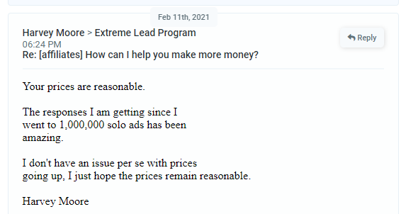 Extreme Lead Program Solo Email Ads Reviews The Respones I Am Getting Has Been Amazing