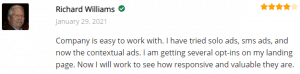 ExtremeLeadProgram Contextual Ads Review - Company is easy to work with - am getting serveral optins to my landing page