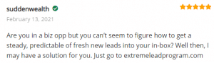 Extreme Lead Program Reviews of Solo Email Ads - Get Steady Predictable Fresh Leads Into Your Inbox