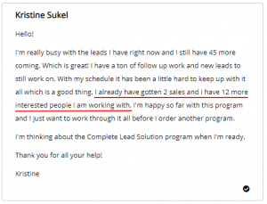 Extreme Lead Program Reviews - Custom Exclusive Phone Interviewed Leads - 2 Sales and 12 More Interested People I Am Working With