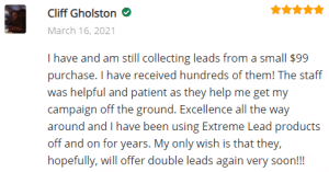 ExtremeLeadProgram Reviews - Solo Email Ads - I have received hundreds of leads - excellent all the way around
