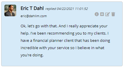 Extreme Lead Program Reviews - Solo Email Ads - Have A Financial Planner client doing incredible with your service so I believe in what you are doing