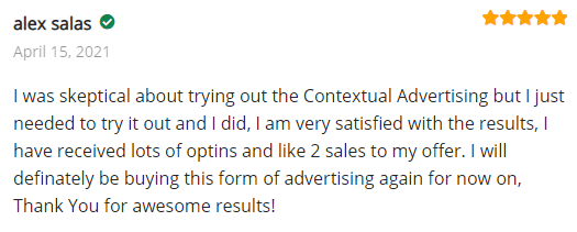 Extreme Lead Program Reviews - Contextual Advertising - Was Skeptical but needed to try and I did - very satisfied - lots of optins and like 2 sales - will be buying again