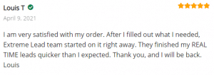 Extreme Lead Program Reviews - MLM Opt-In Leads - Very Satisfied With My Order - I Will Be Back