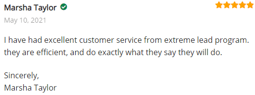 Extreme Lead Program Review - I have had excellent customer service from extreme lead program. they are efficient, and do exactly what they say they will do.