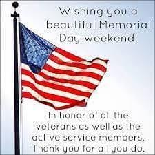 Memorial Weekend Specials