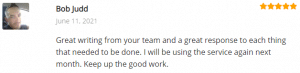 Extreme Lead Program Review: Great writing from your team and a great response to each thing that needed to be done. I will be using the service again next month. Keep up the good work.
