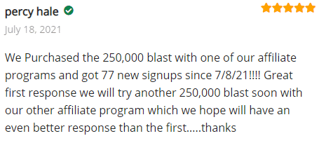 Extreme Lead Program Review - We Purchased the 250,000 blast with one of our affiliate programs and got 77 new signups since 7/8/21!