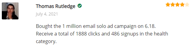Extreme Lead Program Review: Bought the 1 million email solo ad campaign on 6.18. Receive a total of 1888 clicks and 486 signups in the health category.