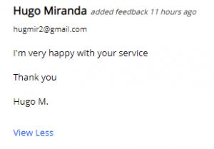 Extreme Lead Program Solo Ad Monthly Review: I'm Very Happy With Your Service, Thank you!