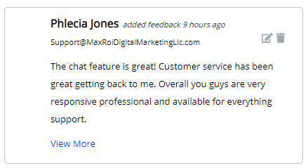 Extreme Lead Program Review: The chat feature is great! Customer service has been great getting back to me. Overall you guys are very responsive professional and available for everything support.