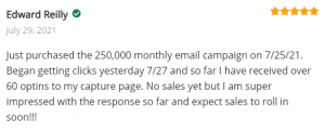 Extreme Lead Program Review For Solo Email Ads: Received over 60 optins so far and expect sales to roll in soon