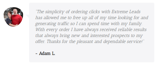 Extreme Lead Program - PPC Traffic Review - simple ordering and always receive reliable results and prospects