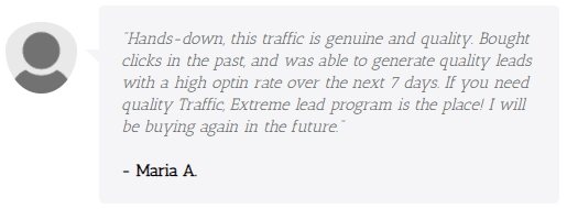 Extreme Lead Program - Pay Per Click Traffic Review - genuine and quality with high optin rates