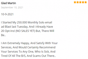 Extreme Lead Program Review: I Am Extremely Happy, And Satisfy With Your Services, And Would Certainly Recommend Your Services To Any One, Who Is Sick, And Tired Of All The B/S, And Scams Out There..